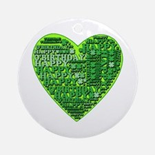 St Patricks Happy O'Birthday Ornament (Round)