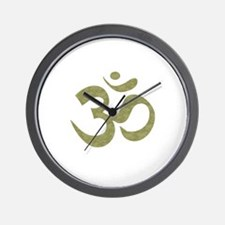 Om Symbol Wall Clock