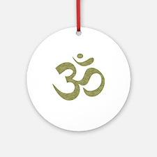 Om Symbol Ornament (Round)