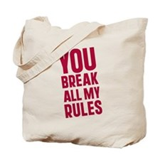 Cute Rules for dating my son Tote Bag