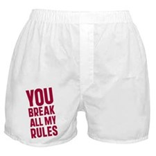 Cute Breaking all the rules Boxer Shorts