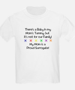 *There's a Baby in My Mom's Tummy but* Kids Tshirt