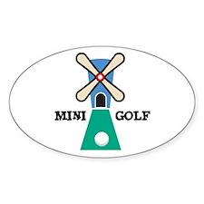 Mini Golf Oval Decal