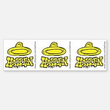 Condoms Happen (right) Sticker (Bumper)