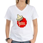 Senor Pizza Women's V-Neck T-Shirt