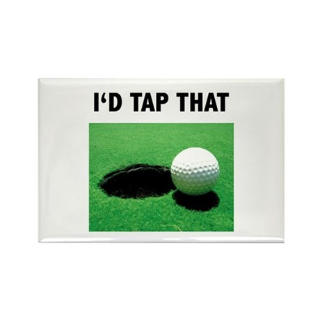 I'd Tap That Rectangle Magnet (10 pack)
