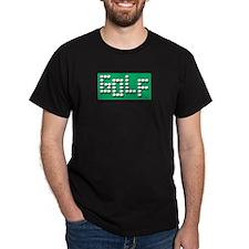 Golf Balls Sign  Black T-Shirt