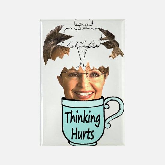 Thinking Hurts Rectangle Magnet