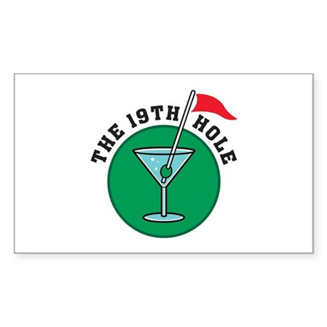 19th Hole Rectangle Sticker