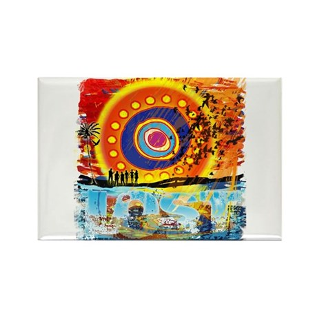 Lost Oceanic Beach Splash Rectangle Magnet (10 pac