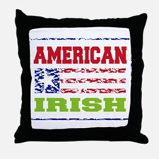 American Irish Throw Pillow
