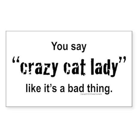Cat Lady Sticker (Rectangle)