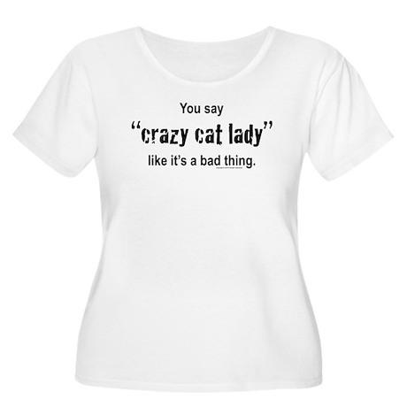 Cat Lady Women's Plus Size Scoop Neck T-Shirt