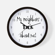 My Neighbors Talk Wall Clock