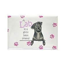 Black Lab BF Rectangle Magnet