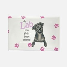 Black Lab BF Rectangle Magnet