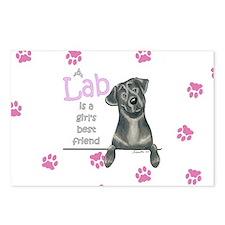 Black Lab BF Postcards (Package of 8)