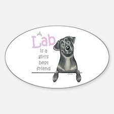 Black Lab BF Sticker (Oval)