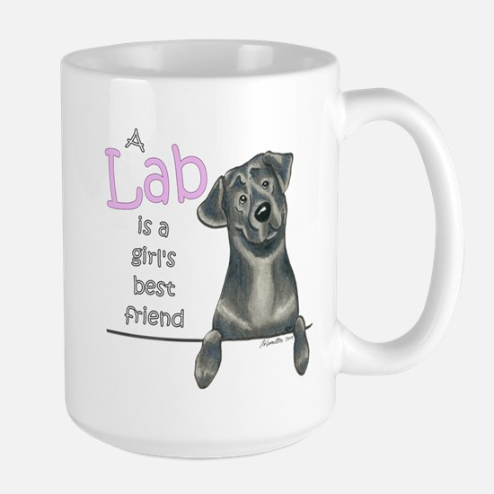 Black Lab BF Large Mug