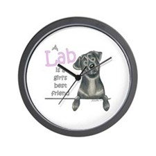 Black Lab BF Wall Clock