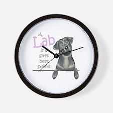 Black Lab BF Wall Clock