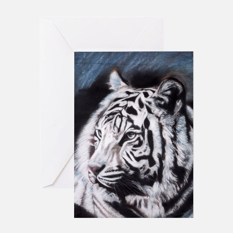 Cute Snow white tigers Greeting Card