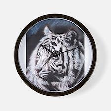 Unique White tigers Wall Clock