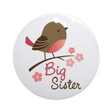 Big Sister - Mod Bird Ornament (Round)