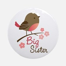 Big Sister - Mod Bird Ornament (Round)