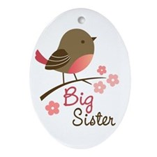 Big Sister - Mod Bird Ornament (Oval)