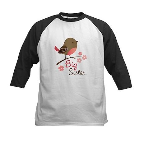 Big Sister - Mod Bird Kids Baseball Jersey