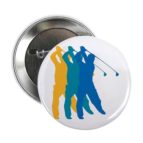 Golf Silhouette Button