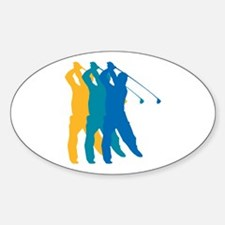 Golf Silhouette Oval Decal