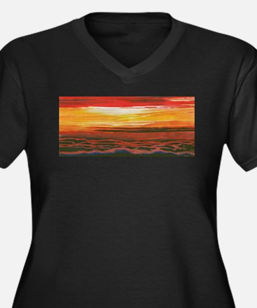 Cute Skyscapes Women's Plus Size V-Neck Dark T-Shirt