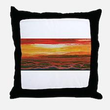 Unique Pink sunrise Throw Pillow