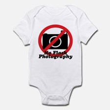 No Flash Photography Infant Bodysuit