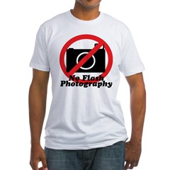 No Flash Photography Fitted T-Shirt