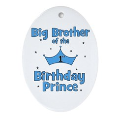 Big Brother of the 1st Birthd Ornament (Oval)