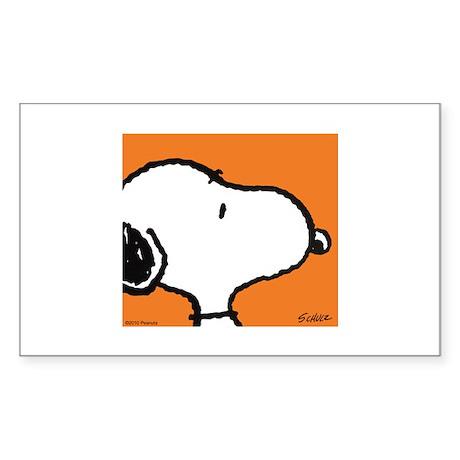 Fresh Orange Snoopy Sticker (Rectangle)
