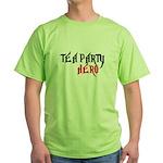 TEA PARTY HERO Green T-Shirt