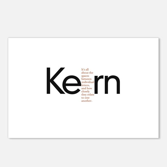 Kerning Postcards (Package of 8)