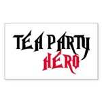 TEA PARTY HERO Sticker (Rectangle)