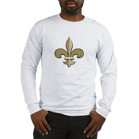 Fleur de lis black gold Long Sleeve T-Shirt
