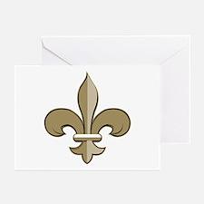 Fleur de lis black gold Greeting Cards (Pk of 10)