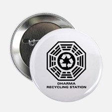 """DHARMA Recycling Station 2.25"""" Button"""