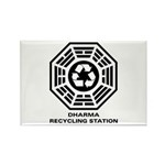 DHARMA Recycling Station Rectangle Magnet (10 pack
