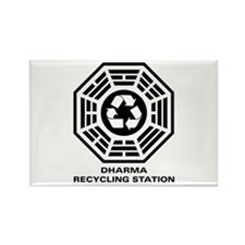 DHARMA Recycling Station Rectangle Magnet