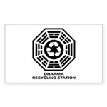 DHARMA Recycling Station Sticker (Rectangle 10 pk)