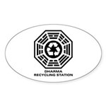DHARMA Recycling Station Sticker (Oval 10 pk)