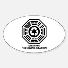 DHARMA Recycling Station Sticker (Oval)